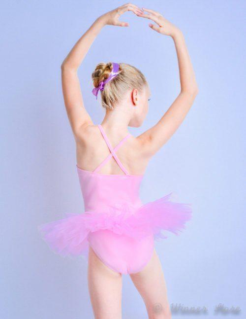 розовый балетный костюм