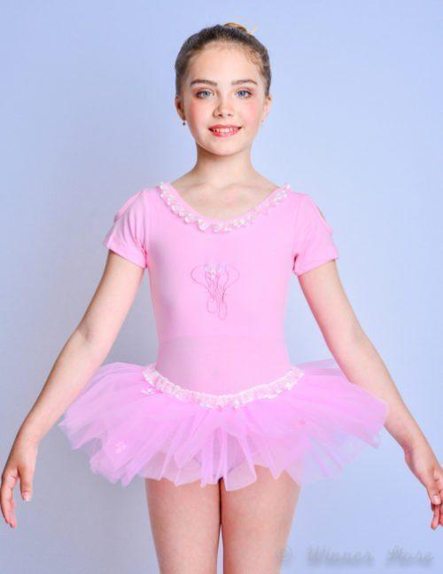 розовый балетный купальник