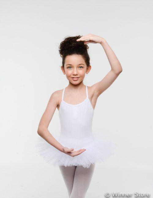 белый балетный купальник
