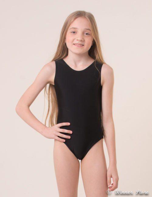 черный лайкровый гимнастический купальник