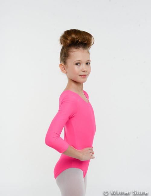 розовый гимнастический купальник