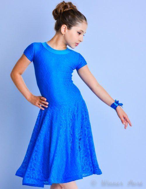 голубое рейтинговое платье