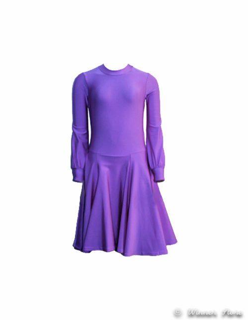 лиловое рейтинговое платье