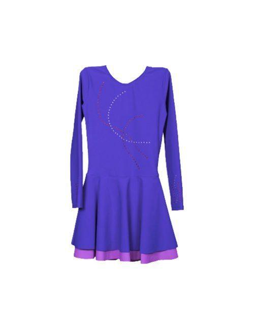фиолетовое спортивное платье