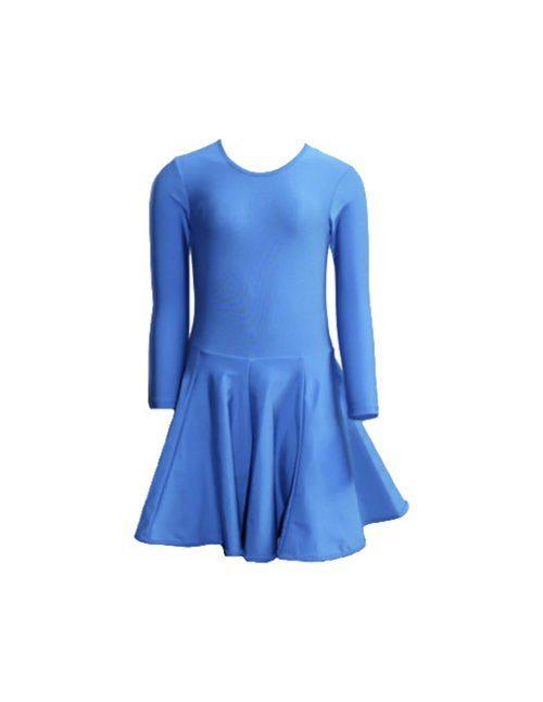 голубое спортивное платье