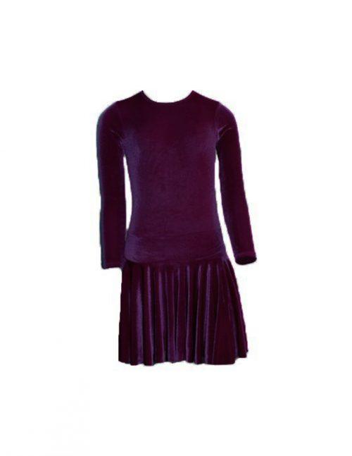 Платье рейтинговое велюровое