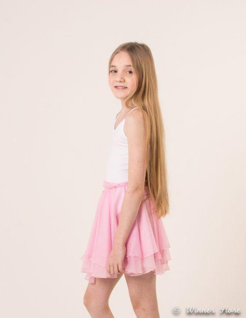 розовая юбка для танцев