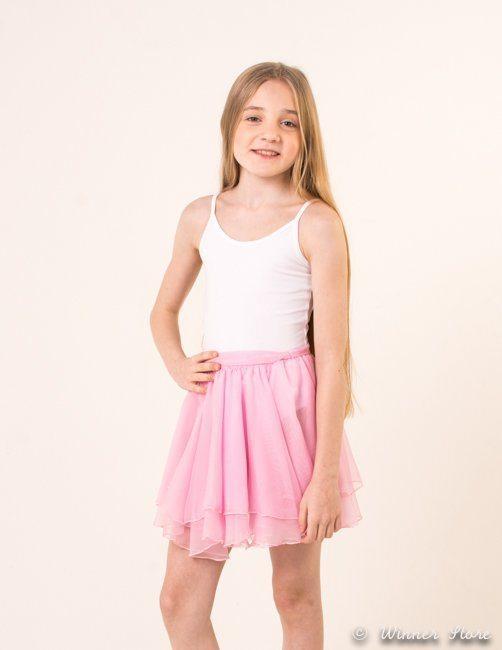 Юбка для танцев розовая