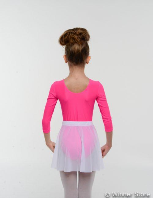 белая шифоновая гимнастическая юбка