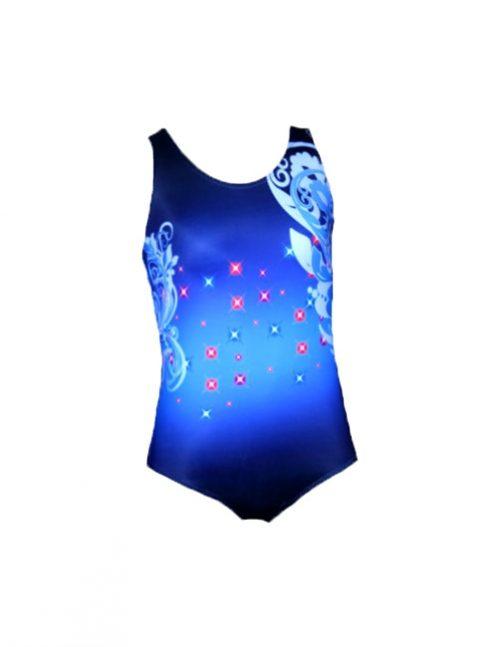 темно-синий плавательный купальник