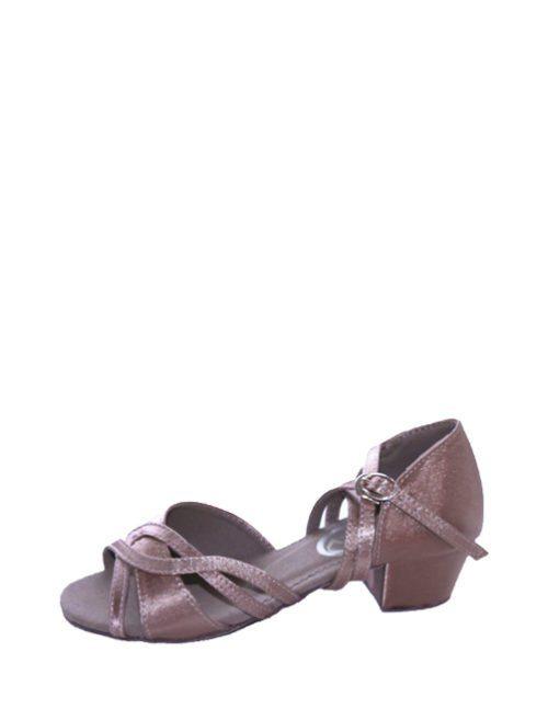 Туфли для танцев латина светлый сатин