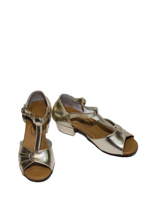 туфли для танцев золотые