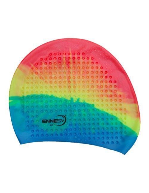 трехцветная плавательная шапочка
