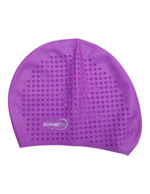 фиолетовая плавательная шапочка