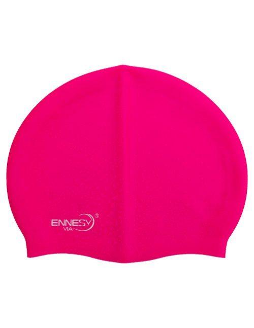 розовая плавательная шапочка