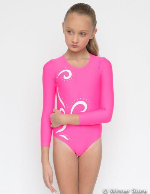 Розовый купальник, гимнастика