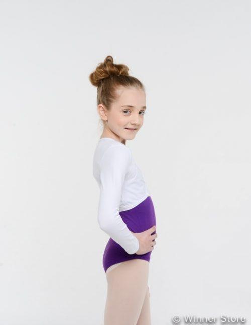Белое гимнастическое болеро