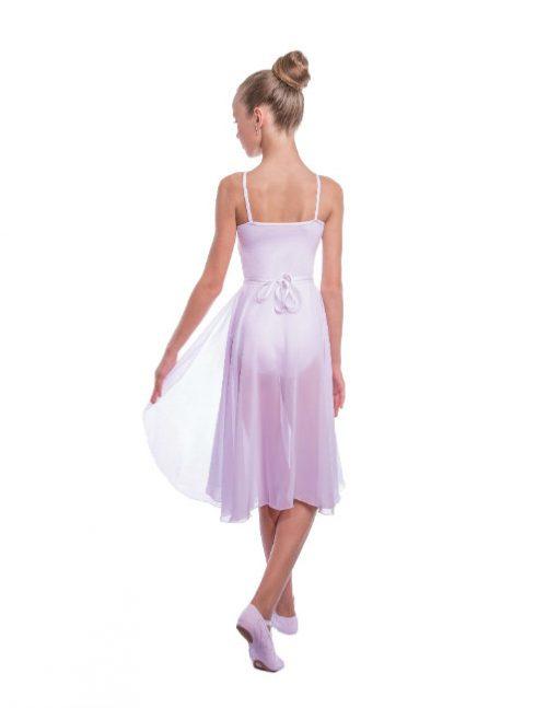 белая удлиненная гимнастическая юбка
