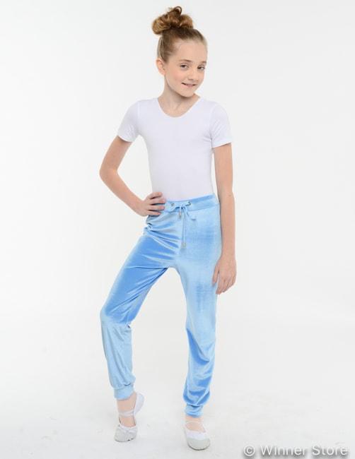 Голубые спортивные штаны