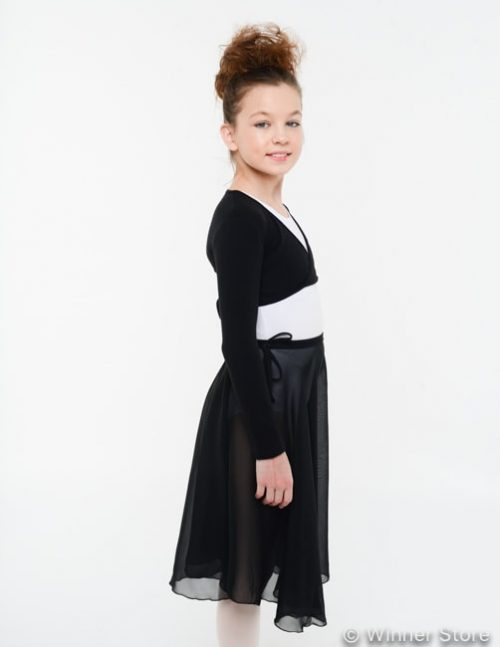черная удлиненная гимнастическая юбка