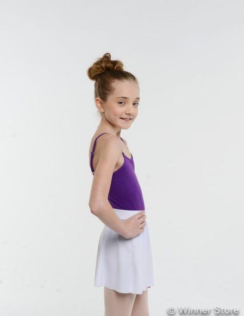 белая лайкровая гимнастическая юбка