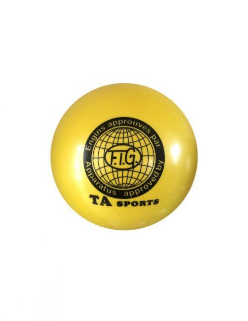 желтый гимнастический мяч