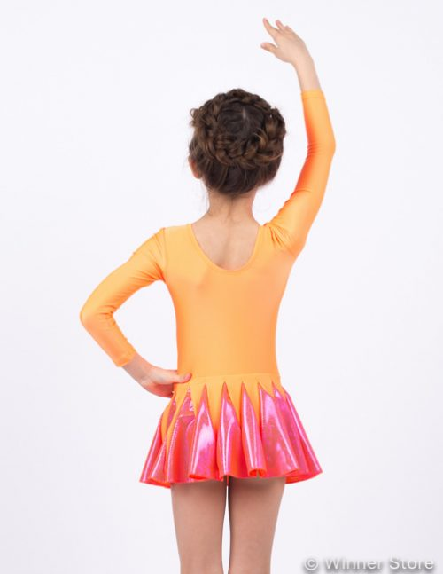 оранжевый купальник для выступлений