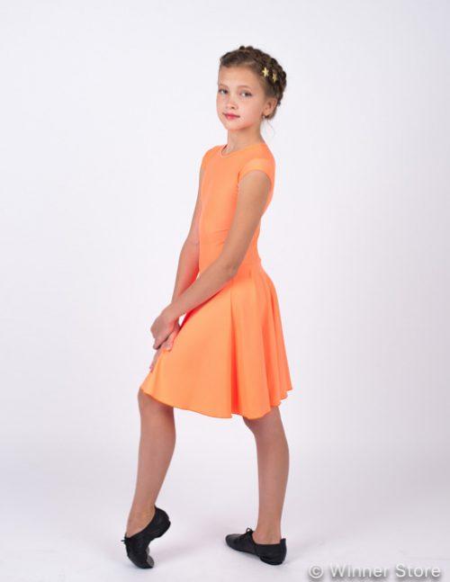 Оранжевое рейтинговое платье