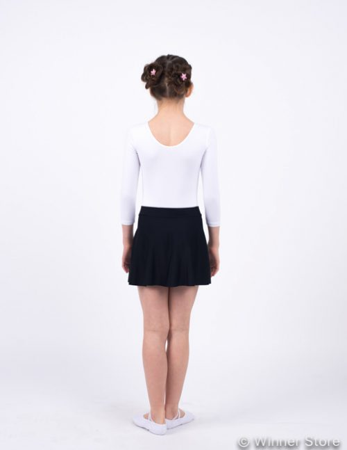 черная гимнастическая юбка
