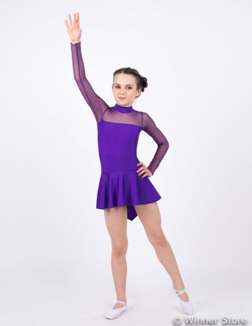 Фиолетовый купальник для выступлений T11