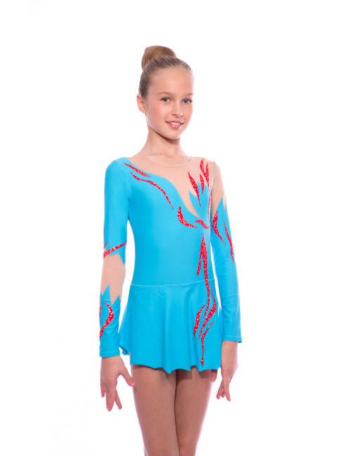 голубой купальник для выступлений