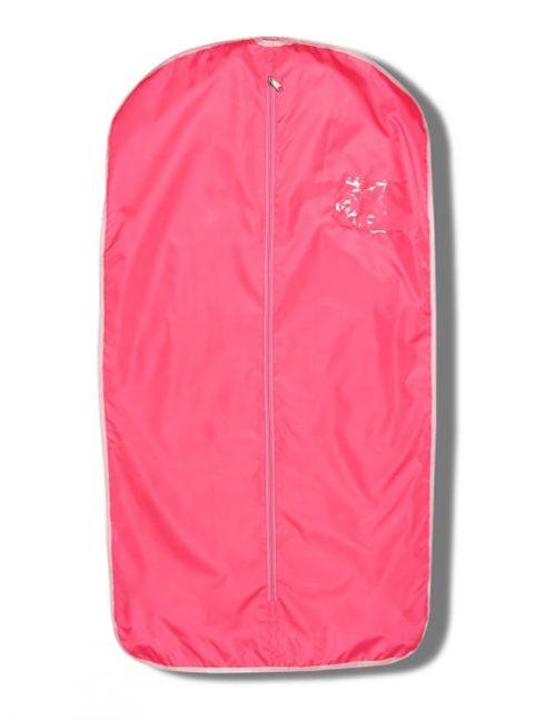 Розовый чехол для одежды
