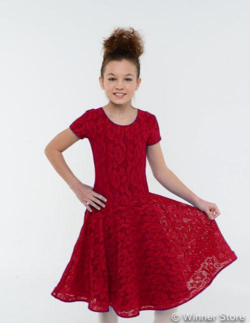 Бордовое рейтинговое платье