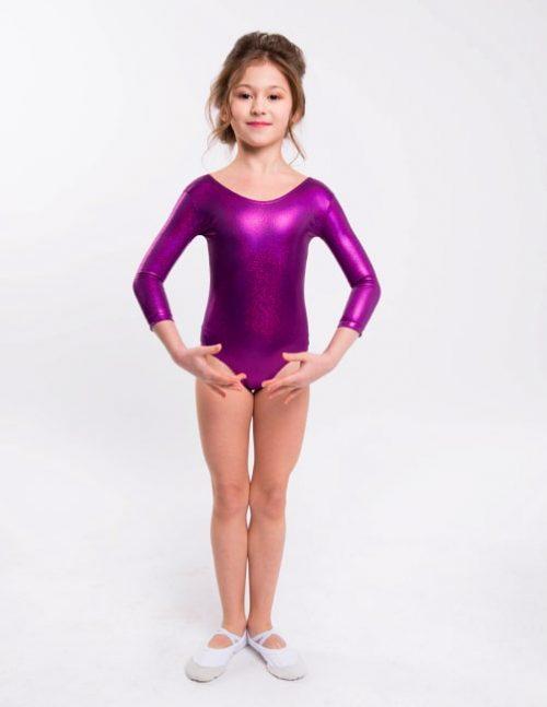 Фиолетовый купальник для выступлений