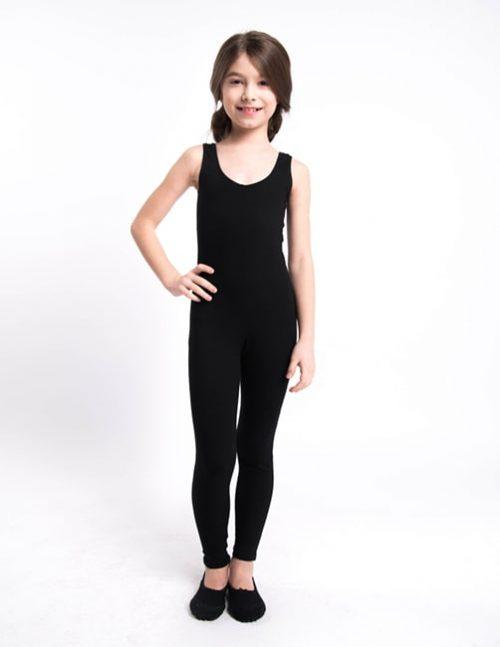 Черный гимнастический комбинезон