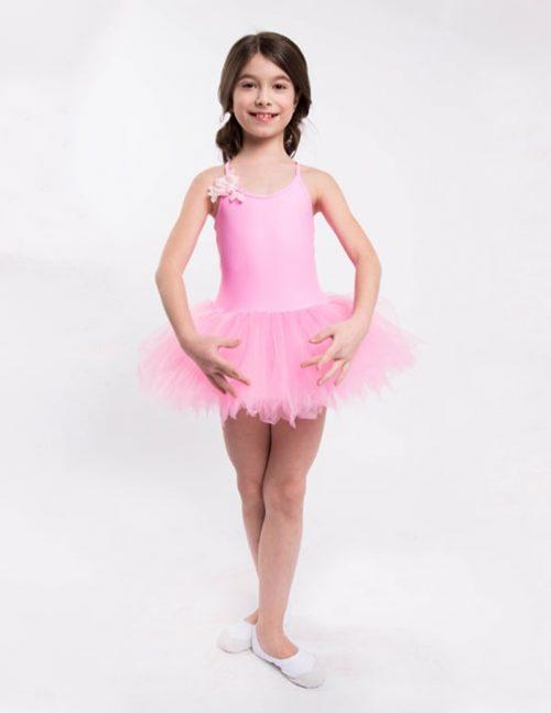 Розовый купальник балетный