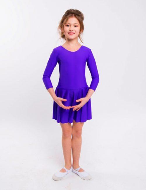 Фиолетовый купальник для гимнастики
