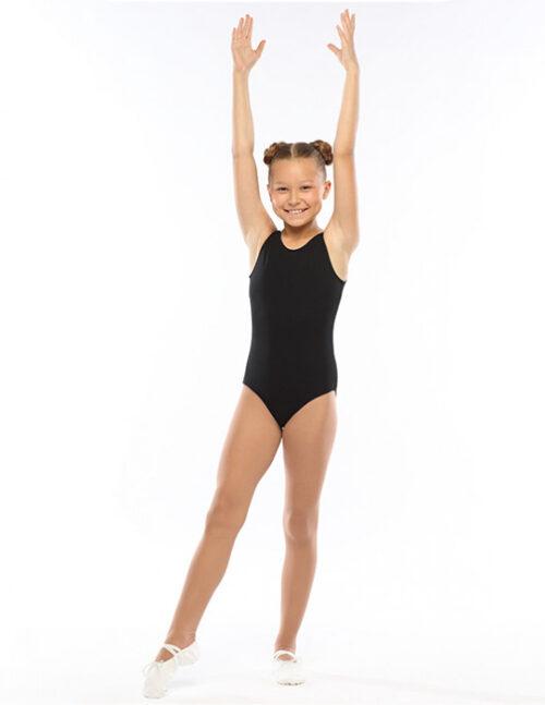 Черный гимнастический купальник